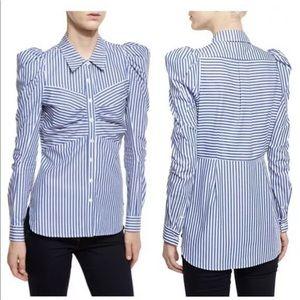 Veronica Beard Candice Striped Button Down Shirt 6